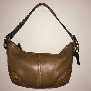 Coach tan leather vintage purse